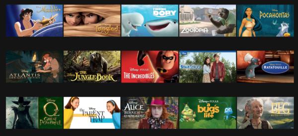 Netflix Disney content
