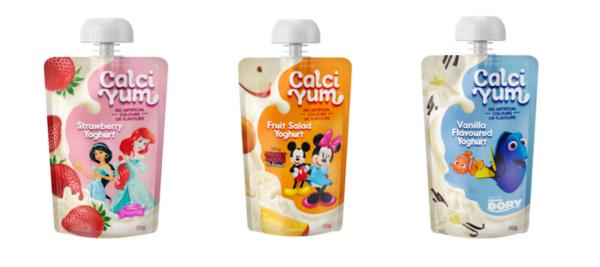 Recalled yoghurt pouches