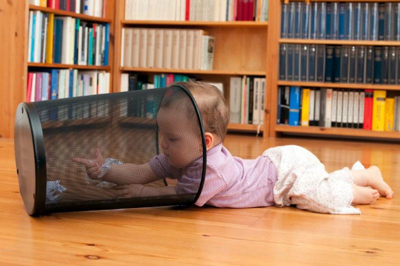 Baby wastepaper bin