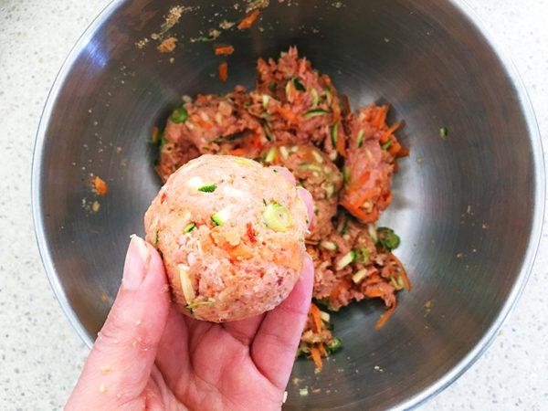 turkey and vegetable rissoles recipe process