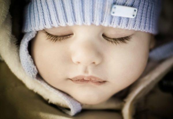 baby wearing beanie