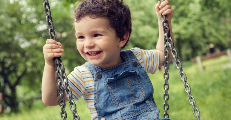 Boy on swing