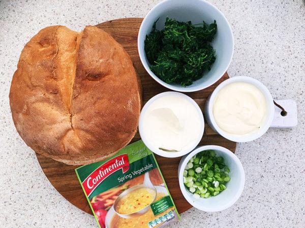cob-loaf-dip-recipe ingredients