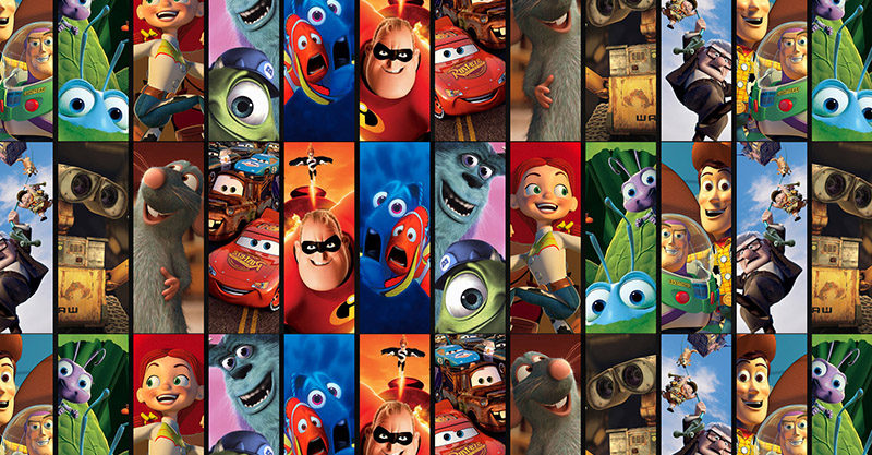 Disney Pixar characters