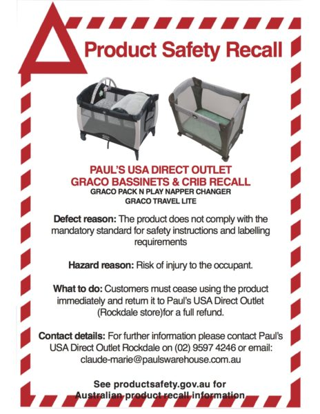 Graco product recall