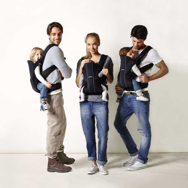 Parents and babies using the Baby Bjorn Sling