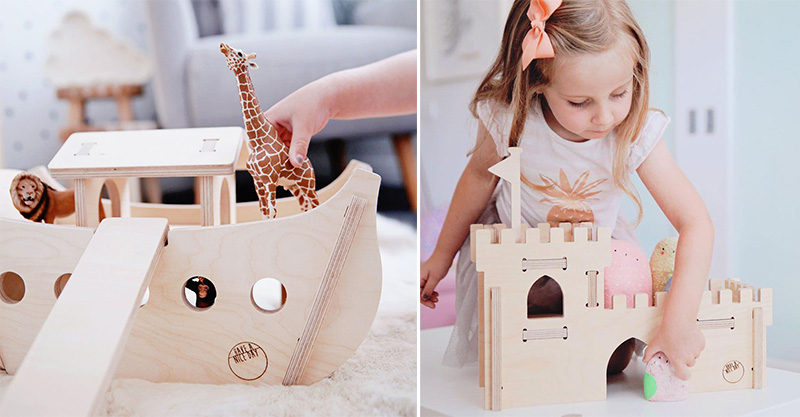 wooden toys, play, animals