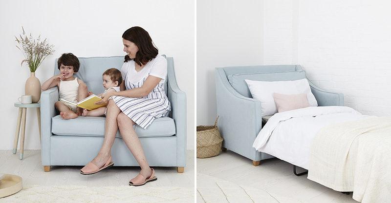 children, mum, chair, reading, sofa bed