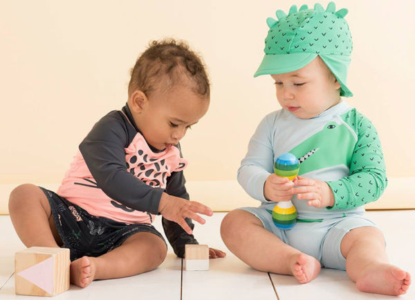 swimwear, babies, hats