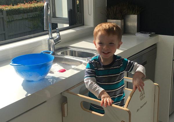 sink, child, kitchen