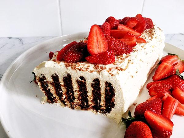 no-bake choc ripple cake
