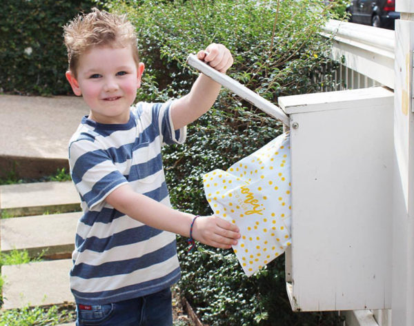 boy, mail, letter box
