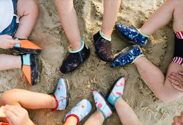 beach, sand, kids, shoes