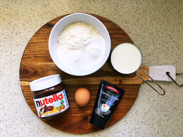 nutella pancakes ingredients