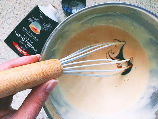 making nutella pancakes