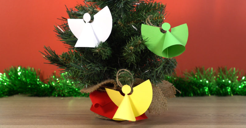 Christmas paper angels craft