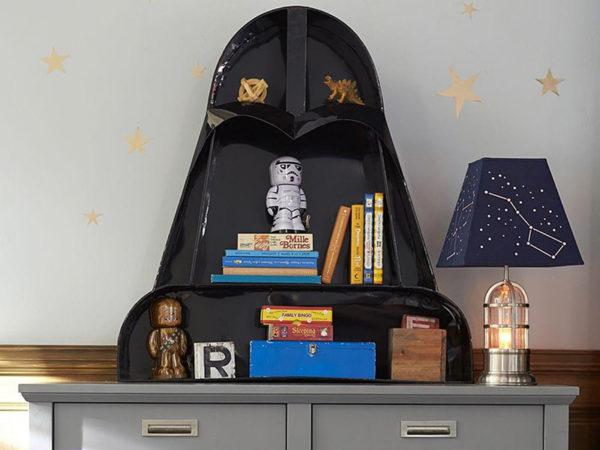 Star Wars, shelf, books, trinkets