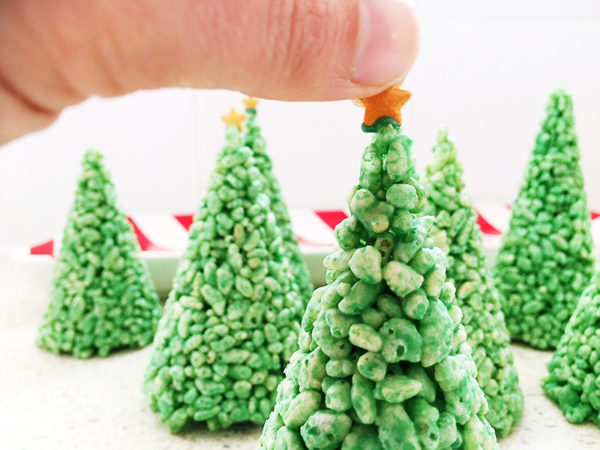 rice bubble christmas trees
