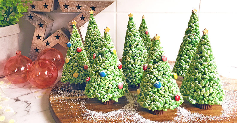 rice bubble christmas trees recipe