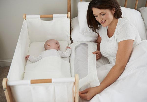 baby, mother, bed, bassinet, cosleep