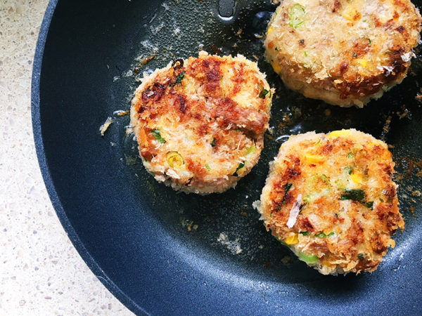 fried tuna patties fishcakes