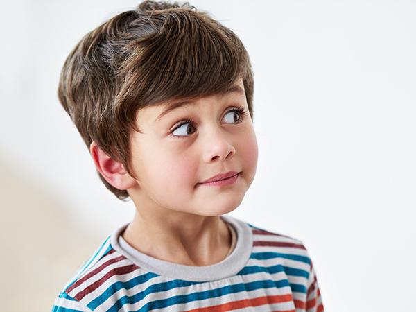 Cheeky toddler boy