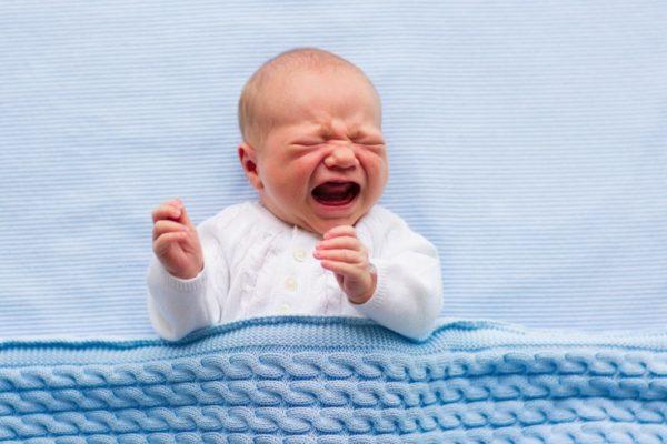 crying newborn boy