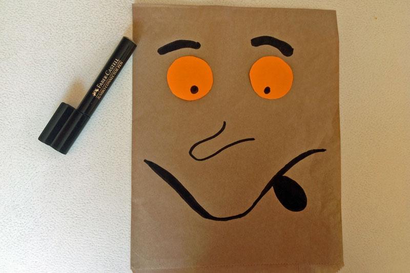 The Gruffalo puppet - draw