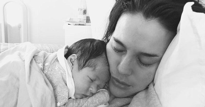 Megan Gale and baby Rosie