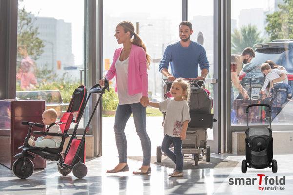 trike, family, airport