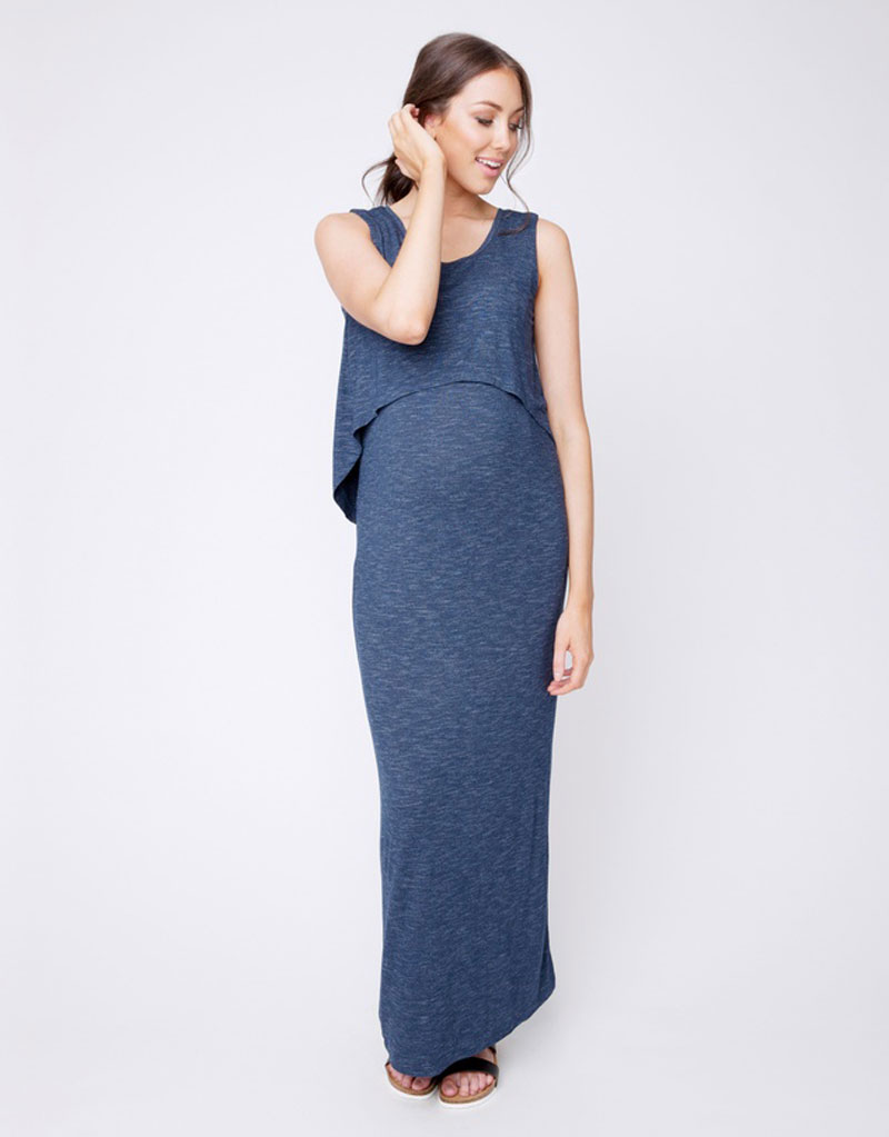 Swing bodice maternity dress