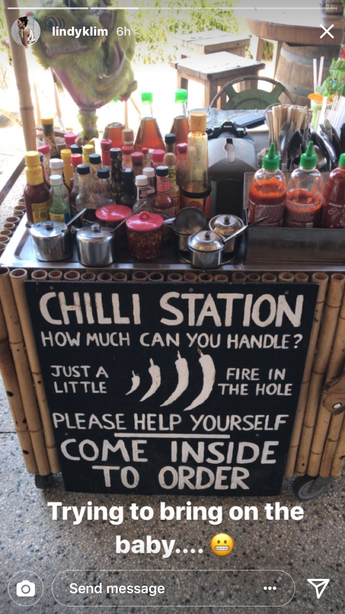 Lindy Klim at chilli station