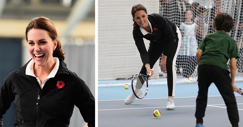 Duchess Kate playing tennis