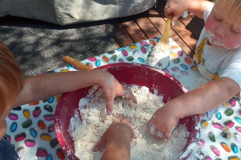 Cloud dough rub