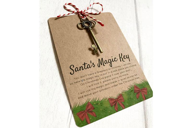 Santa front door key