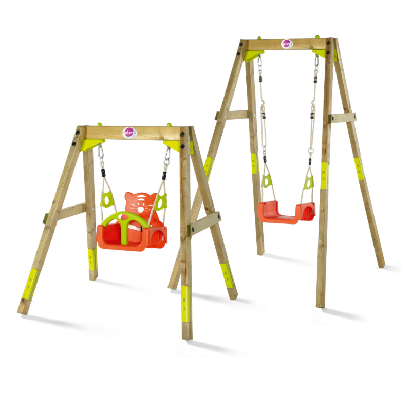 plum wooden growing swing set two sizes