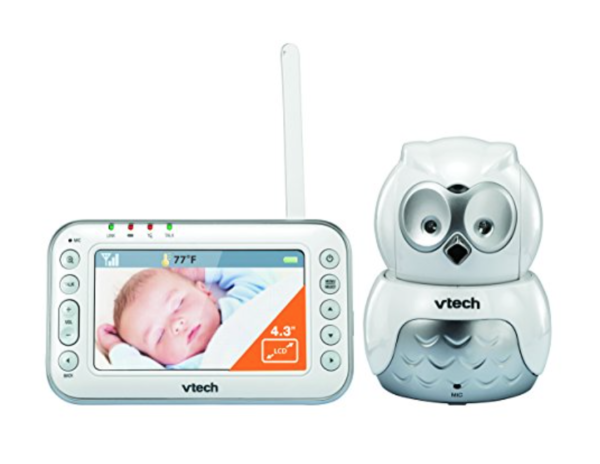VTech BM4500 Safe & Sound Video and Audio baby monitor with motorised Pan & Tilt Owl Camera