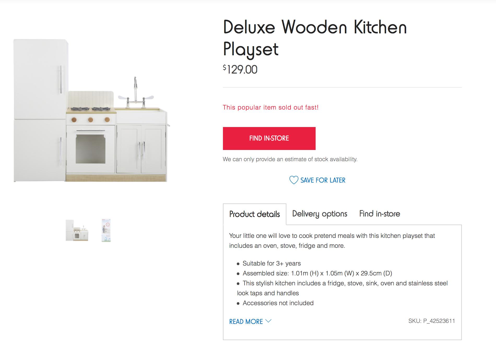 Kmart Wooden Kitchen