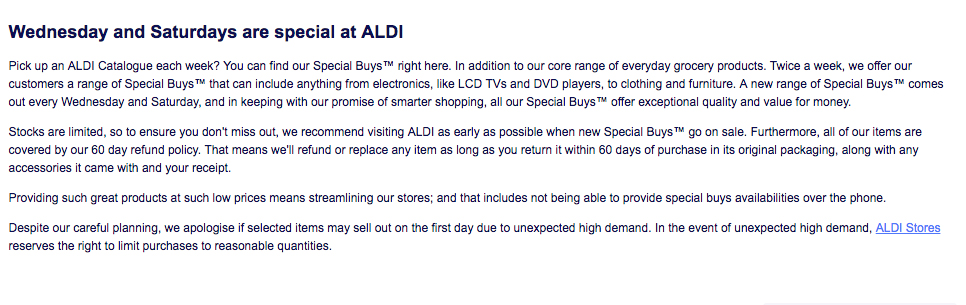 An open letter to all the disgruntled Aldi shoppers