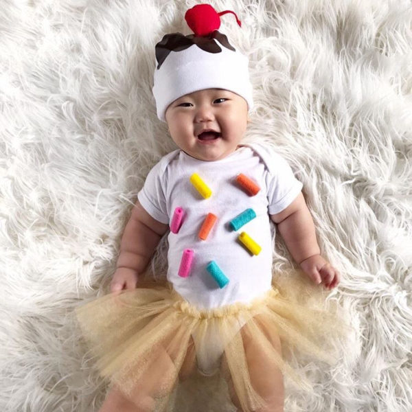 Dress baby up as an ice cream