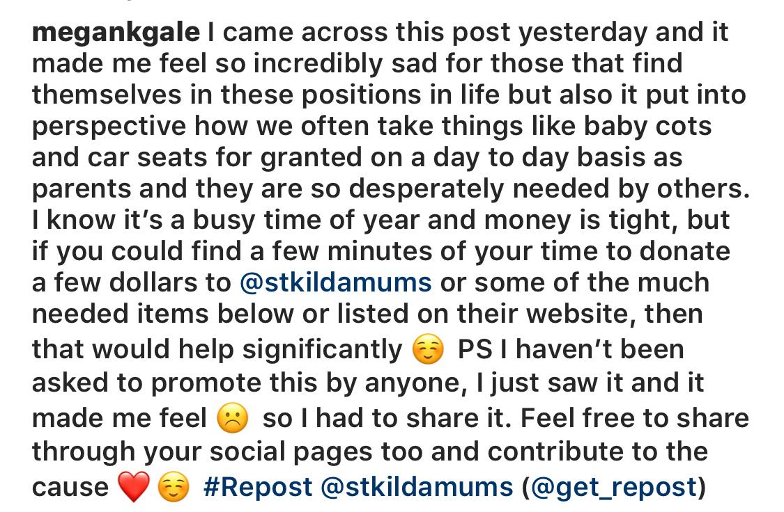 Megan Gale's Instagram account