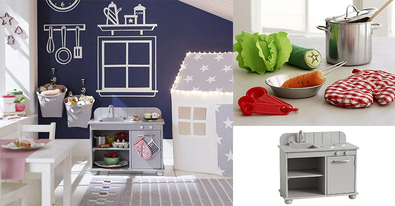 pottery barn kids delights with these gorgeous christmas gifts for micro chefs. Black Bedroom Furniture Sets. Home Design Ideas