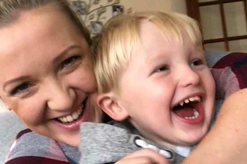 Gemma Chalmers and son selfie
