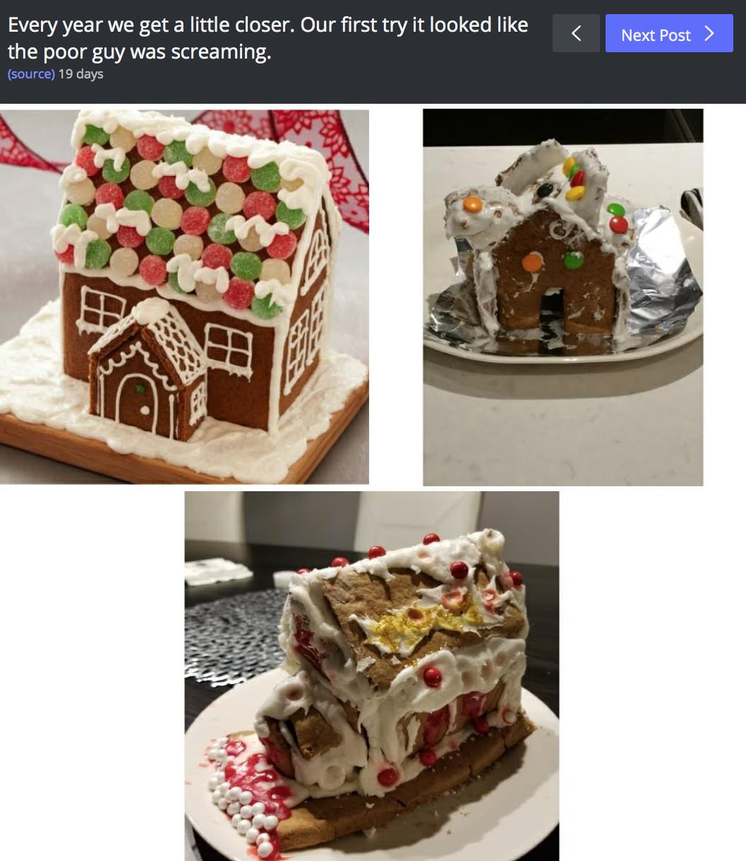 Gingerbread House Fail