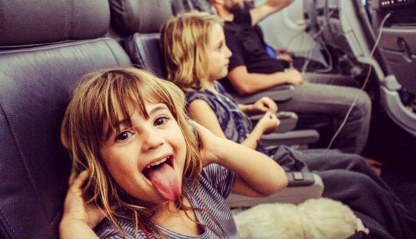 cheeky girl on plane