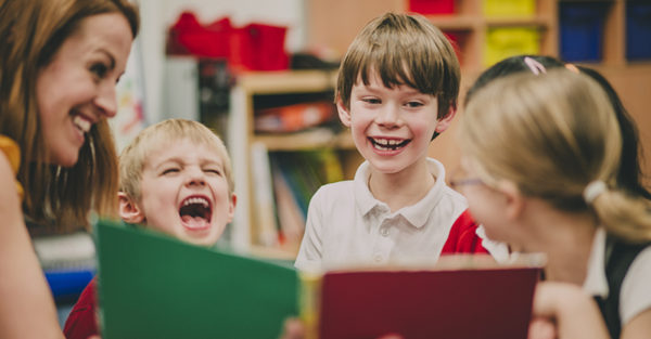 School class laughing