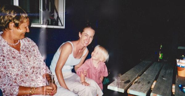 Penny Flanagan with son