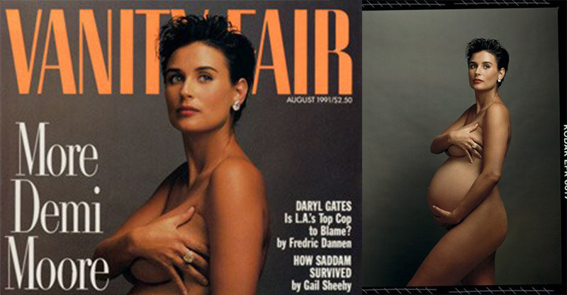 Are not demi moore nude pregnant are