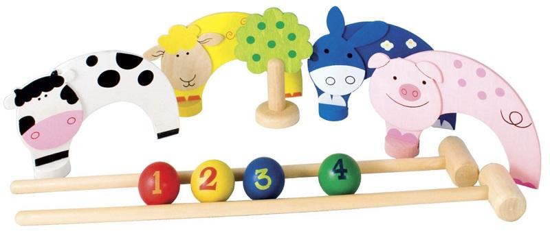 Farm Animal Croquet Set