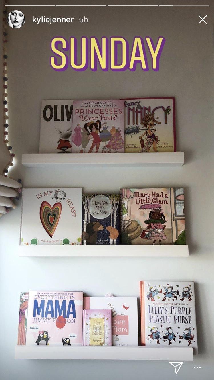 Stormi's bookshelf